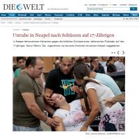 Die Welt – September 2014
