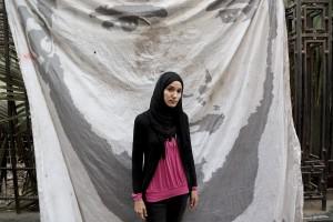 Salma al Masry, sympathizer of the Egyptian movement Tamarrod.