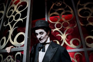 """An artist of the Spanish circus """"Circo de los Horrores""""."""