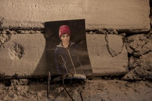 A picture of Costel is affixed on the wall of a sewer near Gara de Nord in Bucharest, Romania on November 6, 2011. During the winter hundreds of persons, sleep in the basement of the city to find heat.