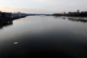 A general view of the Vistula River in Warsaw on February 13, 2014. The Vistula is the longest river in Poland.