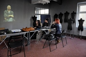"""An interactive lesson inside """"Viamoda industrial"""", the university of design, fashion and technology management in Warsaw, on February 17, 2014. The institute is located in the """"Soho Factory"""" in the neighborhood """"Prague"""", the creative heart of Warsaw."""