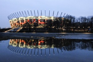 "A view of the ""Stadion Narodowy"" in Warsaw on February 18, 2014. The stadium was built on the occasion of European football in 2012 that were awarded to Poland and Ukraine."