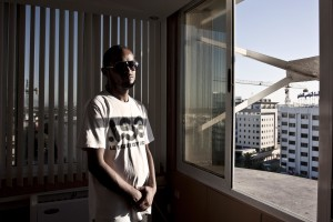 A portrait of the Tunisian rapper Karim Brik in Tunis on October 18, 2012. Karim became famous after the arrest of his brother Hassan (leader of the Salafi organization Ansar al Sharia), for violent attacks to US embassy in Tunis in September 14, 2012 against webcasting of the film anti-Mohammed.