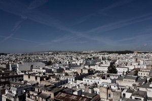 A general view of Tunis city center on October 18, 2012.