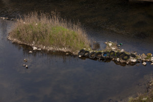 February 4, 2014 – Castel Volturno, Italy: An illegal dumping in a lake near Caserta.