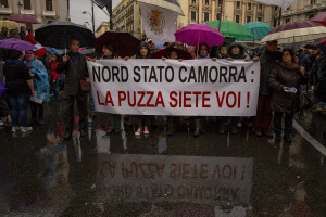 November 16, 2013 – Naples, Italy: A rally against toxic waste in Campania. Thousands of people took to the streets of Naples, to protest against the illegal dumping of toxic garbage in Naples and province.