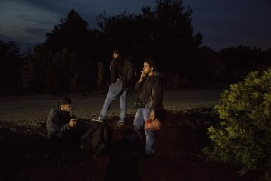 Migrants near the Serbian border with Hungary in Horgos, Serbia on September 15, 2015. Hungary's border with Serbia has become a major crossing point into the European Union for migrants, with more than 160,000 accessing Hungary so far this year.