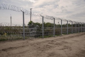 A general view of the Hungarian border with Serbia in Rozske, Hungary on September 15, 2015. The right-wing nationalist government led by Viktor Orbán has closed the entire border with Serbia on September 15, 2015 after the entry into force of new rules that make it illegal and punishable by law. Hungary's border with Serbia has become a major crossing point into the European Union, with more than 160,000 access Hungary so far this year.