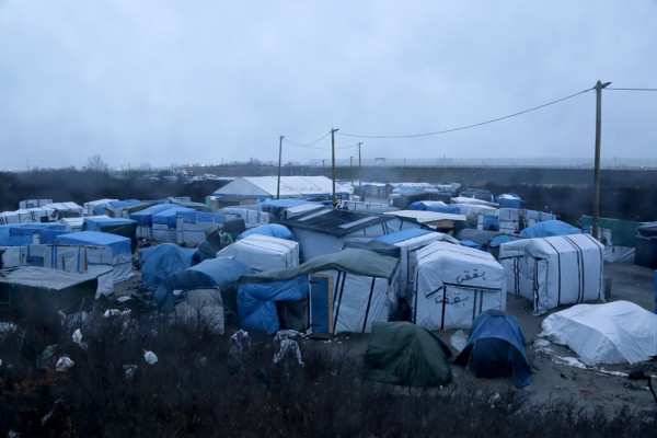 Migrants in the jungle of Calais