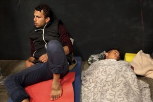 September 12, 2015 – Budapest, Hungary: Migrants spend the night inside Keleti Central Train Station. Hungary's border with Serbia has become a major crossing point into the European Union, with more than 160,000 access Hungary so far this year.