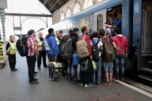 September 13, 2015 – Budapest, Hungary: Migrants take the train to continue their route in Europe at Keleti Central Train Station. Hungary's border with Serbia has become a major crossing point into the European Union, with more than 160,000 access Hungary so far this year.