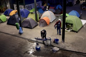 September 13, 2015 – Budapest, Hungary: Migrants are seen at Keleti Central Train Station. Hungary's border with Serbia has become a major crossing point into the European Union, with more than 160,000 access Hungary so far this year.