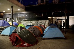 September 13, 2015 – Budapest, Hungary: Migrants rest inside tents at Keleti Central Train Station. Hungary's border with Serbia has become a major crossing point into the European Union, with more than 160,000 access Hungary so far this year.