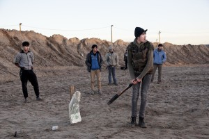 "January 28, 2016 – Calais, France: Migrants play cricket outside the refugee camp of Calais, known as ""The Jungle"". While migrants have for years sought to cross over to Britain from Calais, the numbers have shot up since the refugee crisis went into overdrive last year."