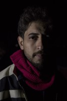 Ibrahim, 27 years old from Baghdad, Iraq is portrayed in the makeshift camp at the Greek-Macedonian borders near the village of Idomeni, in Greece on March 18, 2016.
