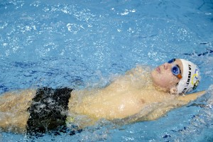 May 17, 2016 – Naples, Italy: An athlete during swimming workouts at the pool Massimo Galante in Scampia district. Massimo Galante swimming pool founded in 2013 has quickly become a reference point for young people who believe in the sport and is already getting major trophies, like the silver medal won by Giulio Iaccarino, 16 years old, at the Italian championships.