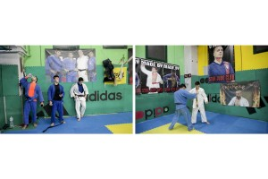 March 1, 2016 – Naples, Italy: Judo training inside the Star Judo gym in Scampia. The Star Judo gym, through martial arts, has become a reference point for the fight against Camorra, saving many children at risk of the district.