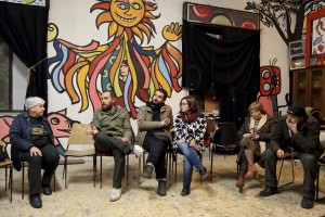 February 19, 2016 – Naples, Italy: An organizational meeting inside Gridas headquarters in Scampia district. Gridas is a cultural non-profit organization founded in 1981 by Felice Pignataro, Mirella La Magna and Franco Vicario gathered by the common intent to put their artistic and cultural skills to the service of common people to stimulate an awakening of consciences and active participation in the growth of the society.