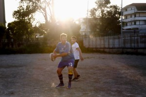 """May 24, 2016 – Naples, Italy: Players of """"Scampia rugby"""" are seen during a training session at the stadium made available by Regina Mundi church in Secondigliano district. """"Scampia rugby"""" born in 2013 and today partecipates in the C2 regional championship."""