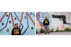 """May 3, 2016 – Naples, Italy: A portrait of the writer Gianluca Raro know as """"Raro"""" in Scampia district. Raro through his murals is embellishing many areas of the Scampia neighborhood best known for degradation and crime."""
