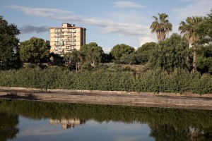 May 20, 2016 – Naples, Italy: A general view of Scampia public garden in Secondigliano district.