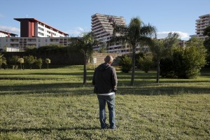 May 20, 2016 – Naples, Italy: A man is seen inside Scampia public garden in Secondigliano district.