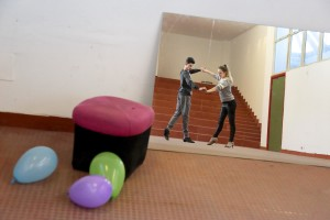 """February 24, 2016 – Naples, Italy – The free dance course taught by maestro Patrizio Liguori from the cultural association """"Raggio di sole per Scampia"""" addressed to the children of prisoners and at-risk boys inside """"Officina delle Culture"""". """"Officina della culture"""" is a multi-purpose center born in the Neapolitan neighborhood of Scampia and dedicated to Gelsomina Verde, an innocent victim of Camorra. The site is run by the association """"Resistenza Anticamorra"""" and its objective is to offer concrete alternatives to children at risk but also to prisoners who have no restrictive measures."""