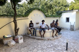 "July 19, 2016 – Naples, Italy: Migrants are seen inside ""Villa Chianese"", a C.A.S. (Extraordinary Reception Center) in Chiaiano, near Naples, southern Italy. CAS are imagined in order to compensate the lack of places inside ordinary reception center in case of substantial arrivals of migrants."