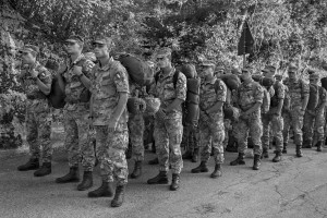 PESCARA DEL TRONTO, ITALY – AUGUST 26: Military are seen in mission in Pescara del Tronto, Italy on August 26, 2016. Italy was struck by a powerful, 6.2 magnitude earthquake in the night of August 24, 2016, which has killed at least 247 people and devastated dozens of houses in the Lazio village of Pescara del Tronto, Amatrice and Accumoli.