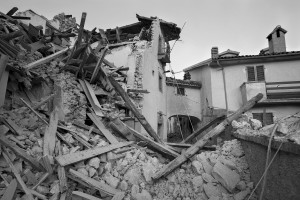VILLANOVA, ITALY – AUGUST 27: Buildings destroyed in Illica, near Villanova in Italy on August 27, 2016. Italy was struck by a powerful 6.2 magnitude earthquake in the night of August 24, 2016, which has killed at least 297 people and devastated dozens of houses in the Lazio village of Pescara del Tronto, Accumoli and Amatrice.