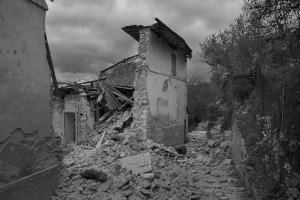 NORCIA, ITALY, NOVEMBER 2: A collapsed building is seen in Ancarano, near Norcia, in Italy, on November 2, 2016. A 6.5 magnitude earthquake hit central Italy on October 30, 2016.
