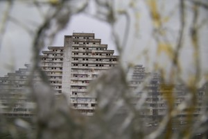 "A general view of the ""vele"" of Scampia, in Naples on November 11, 2016. The ""vele"" of Scampia, become famous for the long and bloody Camorra feuds, will be demolished starting from spring 2017."