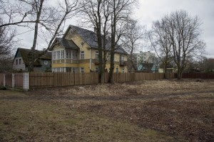 Typical Estonian houses in Kopli, a suburb of Tallinn, Estonia on March 18, 2017. Kopli is considered one of the neighborhoods with the higest number of fentanyl addicts in the city.