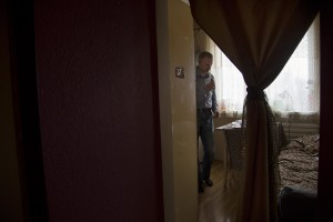 Igor, 33 years old is seen in his house in Lasnamae district, an area where drug addicts usually go to inject fentanyl in Tallinn, Estonia on March 22, 2017. Igor has been using fentanyl for about fifteen years. Before becoming a fentanyl dependent Igor was a military of the Estonian army.