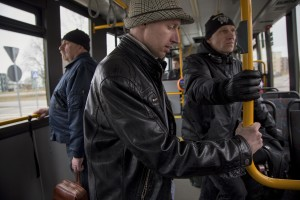 Igor, 33 years old is seen in a bus going to Majaka in order to buy a dose of fentanyl in Tallinn, Estonia on March 20, 2017. Igor has been using fentanyl for about fifteen years. Before becoming a fentanyl dependent Igor was a military of the Estonian army.