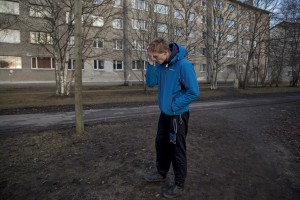 Karl, 26 years old, is seen under the influence of fentanyl in a park of Kopli, in Tallinn, Estonia on March 16, 2017. Kopli is considered one of the neighborhoods with the higest number of fentanyl addicts in the city.