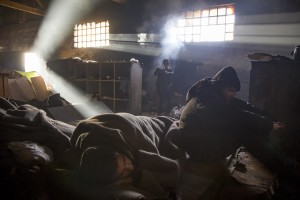 Migrants are seen inside an abandoned warehouse in Belgrade, Serbia on February 5, 2017. Hundreds of migrants have been sleeping in freezing conditions in downtown Belgrade looking for ways to cross the heavily guarded EU borders.