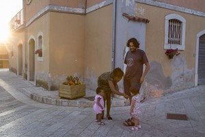 People are seen in the street of Petruro Irpino, southern Italy on June 14, 2017. Petruro Irpino is an Italian small village with 367 inhabitants in the province of Avellino in Campania, which is claiming to be an efficient model of integration and where people of different religions and coming from different parts in the world peaceful live together.