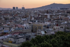 A general view of the city from the Barcelò hotel terrace in the Raval district, in Barcelona, Spain on July 10, 2018.