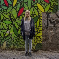 Rosanna, 20 years old is portrayed in the alleys of the historical center of Naples, in Italy on April 10, 2019. She thinks that street art is an excellent tool to give life back to abandoned urban areas.