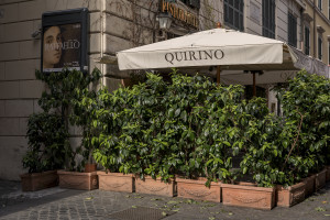 A closed restaurant is seen in the city center during the Coronavirus emergency in Rome, Italy on March 30, 2020. The Italian government is continuing to enforce the nationwide lockdown measures to avoid the spread of the infection in the country.