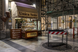 A pastry shop without customers after the Italian government locks down whole country as new coronavirus cases surge, in Naples, Italy on March 10, 2020.