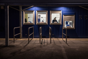 The port ticket office on the second day of unprecedented lockdown across of all Italy imposed to slow the spread of coronavirus in Naples, Southern Italy on March 11, 2020.