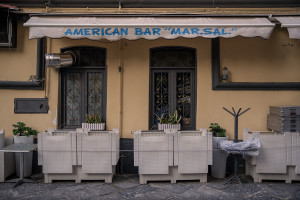 A closed American bar is seen after a decree orders for the whole of Italy to be on lockdown in an unprecedented clampdown aimed to defeat the coronavirus,in Naples, Italy, on March 10, 2020.