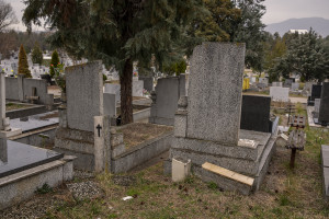 Graves are seen inside Butel cemetery in Skopje, North Macedonia on March 3, 2020. According to the World Health Organization (WHO), 2,574 people die prematurely every year in Macedonia as a result of air pollution. Poor air quality in the Republic of Macedonia is mainly due to the tiny combustion particles called PM10 (10 micrometers or less in diameter) and PM2.5 (2.5 micrometers or less in diameter). These can easily penetrate deeply into the body, causing dangerous health problems and then death.