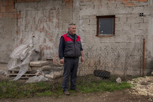 Slavco, 52 years old and former OHIS employee is portrayed in Skopje, North Macedonia on March 4, 2020. The OHIS plant is included in the list of North Macedonia's 16 most critical environmental hotspots, as compiled by Trajce Stafilov from the Institute of Chemistry in Skopje. At one time, OHIS, which was owned by the state, managed five large factories, manufacturing inseticides,  pesticides, cleaning products and cosmetics that were sold all over the Balkans. A few years ago, the company went bankrupt. Its plants are now abandoned, but the surplus chemicals and untreated waste left behind present significant problems for the local authorities. For example, there are two landfill sites that contain thousands of tonnes of soil contaminated with large amounts of the insecticide lindane.
