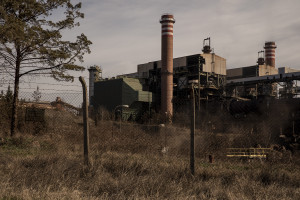 """A general view of FENI industries in Kavadarci, North Macedonia on March 1, 2020. FENI Industries is the largest Macedonian ferro-nickel producer. The smelter was built in 1985 and functioned intermittantly up to 2001. The publication """"Environmental heavy metal pollution and effects on child mental development"""" edited by Lubomir I. Simeonov, Mihail V. Kochubovski, Biana G. Simeoniva and supported by """"The NATO science for peace and security programme"""" includes FENI industries in the list of hotspots of doil contamination related to mining in Macedonia."""