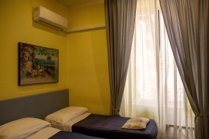 """A room of the Toledo hotel in Naples, Italy on July 9, 2020. The Toledo hotel located in the heart of the """"Quartieri Spagnoli"""", welcomed the last customer on March 10,2020 and then remained closed for three months due to the restrictive measures imposed by the Italian government to reduce the spread of the coronavirus. The tourism sector remains among those most affected by the pandemic."""