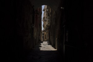 A general view of the historical center of Naples, Italy on June 15, 2020.